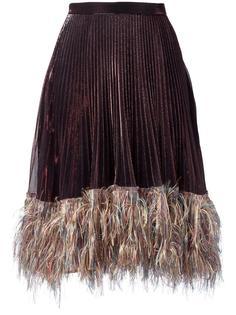 плиссированная юбка с отделкой металлик Marco De Vincenzo