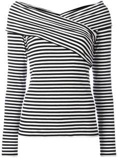 полосатая блузка с вырезом-лодочкой Theory