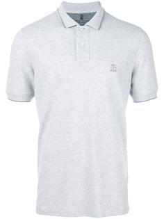 футболка-поло с вышитым логотипом Brunello Cucinelli