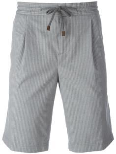 шорты с плиссировкой  Brunello Cucinelli