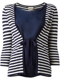 полосатая блузка с завязками  Armani Collezioni