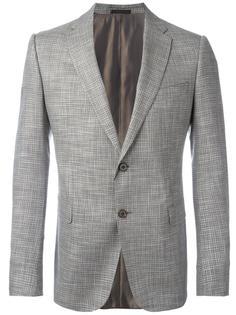 пиджак в клетку Armani Collezioni