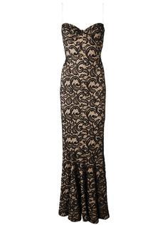 кружевное длинное платье  Norma Kamali