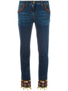 джинсы с вышивкой Etro