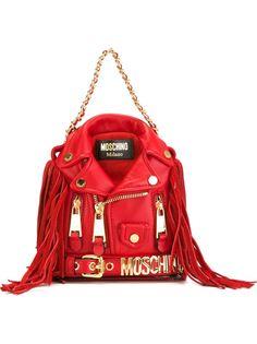рюкзак в виде байкерской куртки Moschino