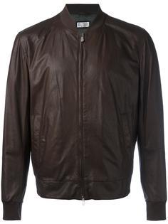 кожаная куртка-бомбер Brunello Cucinelli