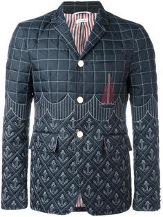 дутый пиджак с вышивкой Thom Browne