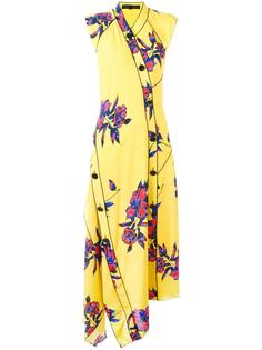 asymmetric floral maxi dress Proenza Schouler