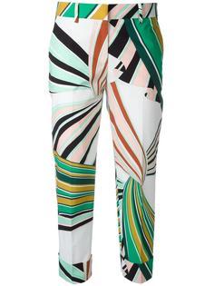 прямые укороченные брюки Emilio Pucci