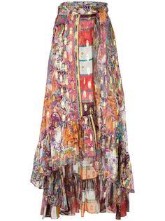 юбка с запахом и оборками Etro