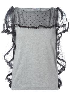 блузка с прозрачными панелями Red Valentino