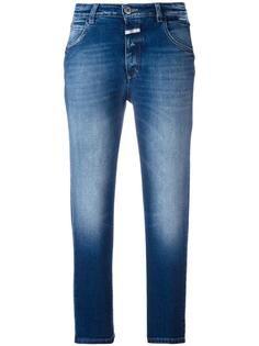 stonewashed cropped jeans Closed