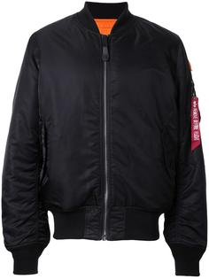 ruched-sleeve bomber jacket Alpha Industries