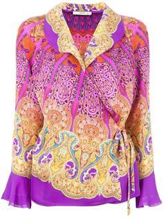 блузка с запахом и завязками Etro