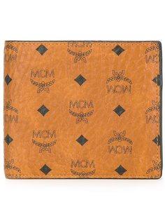складной бумажник с принтом-логотипом MCM