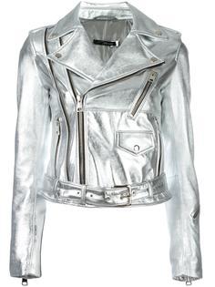 байкерская куртка с отделкой металлик Manokhi