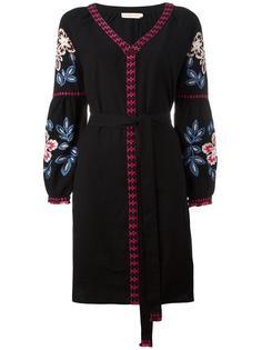 платье с вышитыми цветами Tory Burch