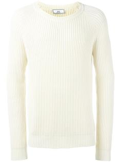свитер с рукавами-реглан в рубчик Ami Alexandre Mattiussi
