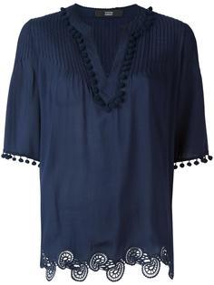 pompom trim blouse Steffen Schraut