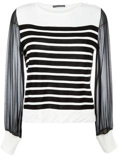 вязаная блузка с полупрозрачными рукавами Alberta Ferretti