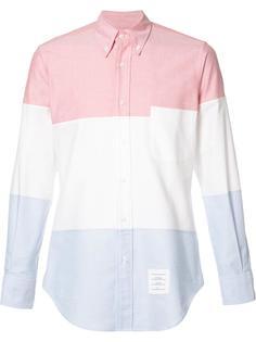 рубашка дизайна колор-блок Thom Browne
