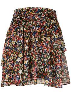 многоярусная юбка с цветочным узором The Kooples