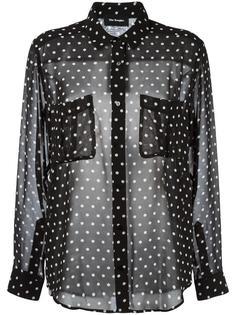полупрозрачная блузка с узором в горох The Kooples