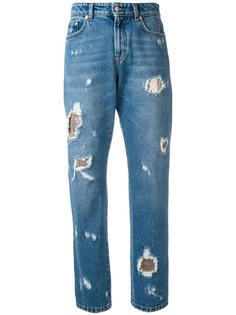 distressed boyfriend jeans Versus