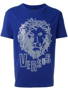 футболка с фактурным логотипом Versus