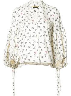 блузка с цветочным принтом Hellessy
