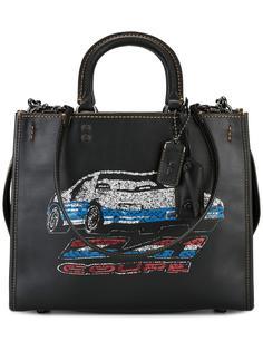 сумка-тоут с принтом автомобиля Coach