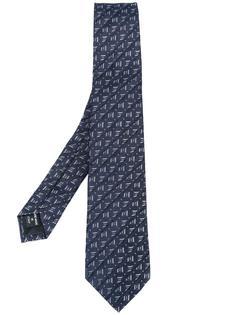 галстук с геометрическим узором Giorgio Armani