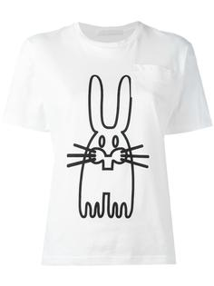 футболка с принтом кролика  Peter Jensen