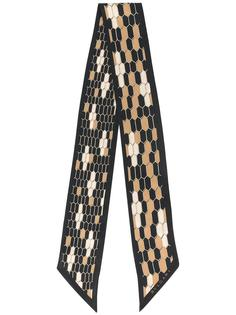gold-tone print skinny scarf Bulgari