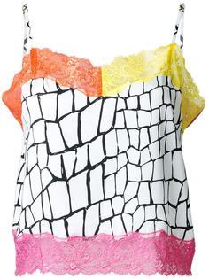 топ с контрастной кружевной окантовкой DressCamp