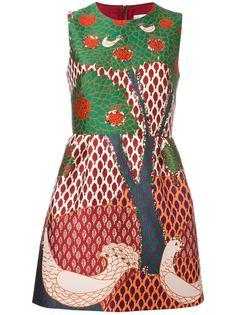 жаккардовое платье с принтом дерева Red Valentino