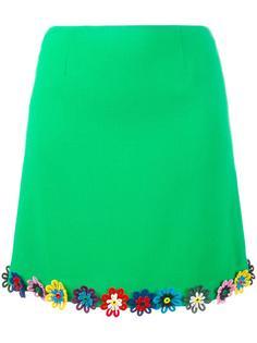 юбка с цветочным украшением Mary Katrantzou