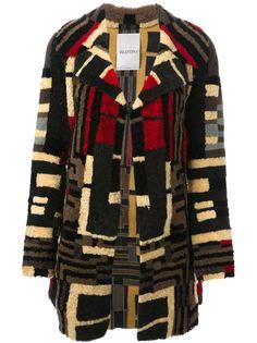 пальто с геометрическим узором Valentino