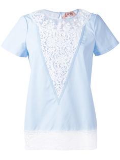 lace panel T-shirt Nº21