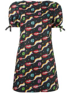 smoking lips print mini dress Olympia Le-Tan