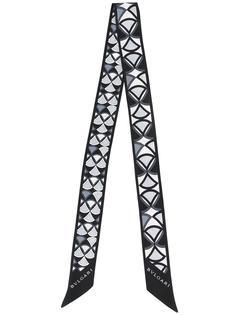 silver-tone print skinny scarf Bulgari