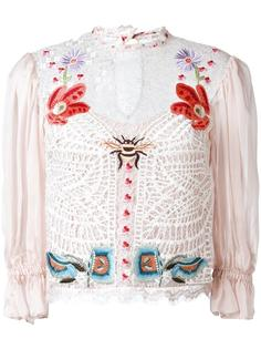 Aura lace sleeved blouse Temperley London