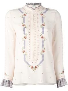 ruffled neck longsleeved blouse Vilshenko