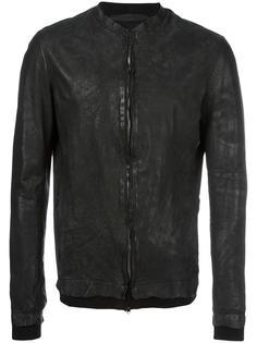 кожана куртка с потертой отделкой Salvatore Santoro