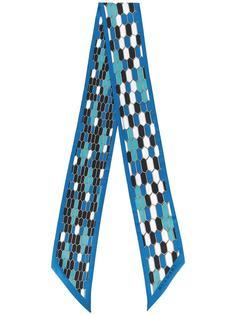 geometric print skinny scarf Bulgari