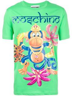 футболка с принтом обезьяны  Moschino