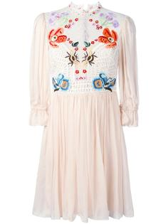 mini Aura lace sleeved dress Temperley London