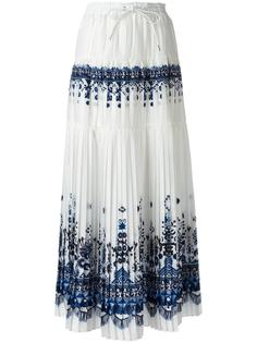 длинная юбка с орнаментом Sacai