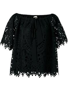 berry lace top Temperley London