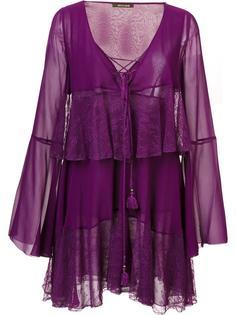 многоярусное платье со шнуровкой Roberto Cavalli